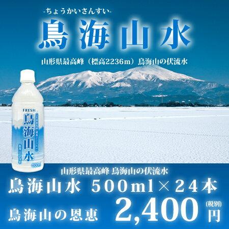 鳥海山水500ml×24本 【RCP】【HLS_DU】