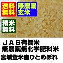 【無農薬玄米】28年産宮城ひとめぼれ玄米10kg(5kgx2)【無農薬】【玄米】【送料無料】
