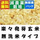 【減農薬 らくらく発芽玄米】 30年産 減農薬米使用 4.5kgx1袋 【無洗米の玄米】【北海道〜近畿地方のみ送料無料…