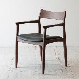 【着後レビューで 5%OFF クーポンGET】北欧家具 ダイニングチェア 無垢 木製 椅子 いす イス 木脚 天然木 クッション 椅子 チェア イス 肘掛付き NRT-C-665