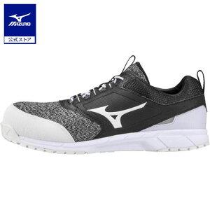 ミズノ公式 作業靴 オールマイティES31L ワーキング メンズ   ブラック×ホワイト