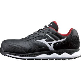 ミズノ公式 作業靴 オールマイティHW11L ワーキング ユニセックス ブラック×ホワイト