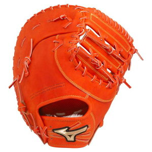 ミズノ公式 軟式用【グローバルエリート】HSelection02+ プラス 【一塁手用:TK型】 | スプレンディッドオレンジ