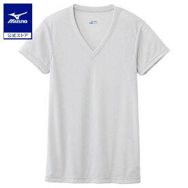 [ミズノ]【ドライベクターエブリ】Vネック半袖シャツ(大きいサイズ)