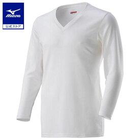 [ミズノ]ブレスサーモアンダーVネック長袖シャツ(大きいサイズ)[メンズ]