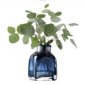 LSA TAFFETAVASE 〈Sapphire Blue ブルー〉H170mm 【花瓶】<箱入り>