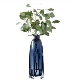 LSA TAFFETAVASE 〈Sapphire Blue ブルー〉H380mm 【花瓶】<箱入り>