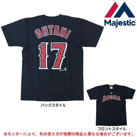 MAJESTIC(マジェスティック)大谷翔平 ロサンゼルス エンゼルス Tシャツ(MM08ANG0098NVY5)(野球/ベースボール/MLB/メジャーリーグ/スポーツ/半袖/子供用/キッズ/ジュニア/男性用/メンズ)