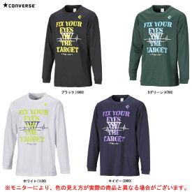 CONVERSE(コンバース)プリントロングスリーブシャツ(CB282315L)(スポーツ/トレーニング/バスケットボール/バスケ/プラクティス/長袖/ウェア/男性用/メンズ)