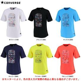 CONVERSE(コンバース)9S Tシャツ 裾ラウンド(CBE291318)(スポーツ/トレーニング/バスケットボール/バスケ/ウェア/半袖/吸汗速乾/男性用/メンズ)