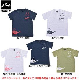 RUSTY(ラスティ)ニコちゃんマーク キッズ Tシャツ(966207)(スポーツ/カジュアル/ハーフスリーブ/半袖/子供用/ジュニア/キッズ)