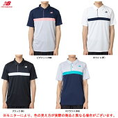 newbalance(ニューバランス)カラーブロックゲームポロシャツ(JMTT9137)(スポーツ/テニス/トレーニング/フィットネス/半袖/Tシャツ/ウェア/男性用/メンズ)