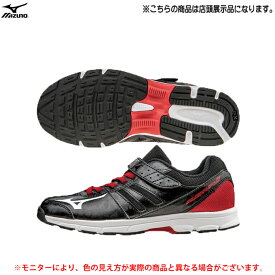 【在庫処分訳あり商品】MIZUNO(ミズノ)ラッシュアップ Jr(25.0cmのみ)(K1GC162701)(ランニングシューズ/ランニング/マラソン/ジョギング/トレーニング/スポーツ/シューズ/靴/ベルクロ/子供用/ジュニア)