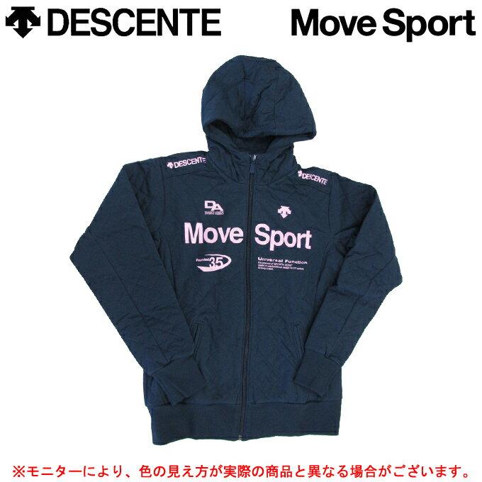 DESCENTE(デサント)キルティング スウェット ジャケット(DAT-2384W)(Move Sport/スポーツ/トレーニング/ジャケット/女性用/レディース)