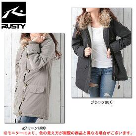 RUSTY(ラスティ)中綿 ジャケット(955302)(カジュアル/スポーツ/トレーニング/フード付き/保温/防寒/女性用/レディース)