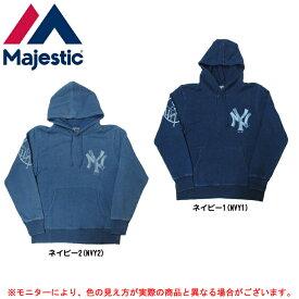MAJESTIC(マジェスティック)ニューヨーク・ヤンキース インディゴ ビンテージ パーカー(MM06NYK0118)(野球/ベースボール/MLB/メジャーリーグ/スポーツ/カジュアル/男性用/メンズ)