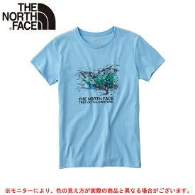 THE NORTH FACE(ノースフェイス)ネイチャードローイングティー(NTW31617)(スポーツ/ランニング/トレーニング/カジュアル/Tシャツ/半袖/女性用/レディース)