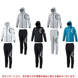 ASICS(アシックス)ストレッチクロス フーデッドジャケット パンツ 上下セット(XAT536/XAT636)(スポーツ/トレーニング/ウェア/ランニング/薄手/男性用/メンズ)