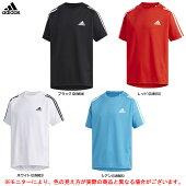 adidas(アディダス)BTRNスリーストライプTシャツ(FTJ80)(スポーツ/トレーニング/カジュアル/半袖/シャツ/子供用/キッズ/ジュニア)
