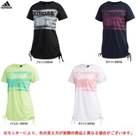 adidas(アディダス)S2S サイド裾絞り紐付きTシャツ(FTK68)(スポーツ/トレーニング/フィットネス/カジュアル/Tシャツ/女性用/レディース)