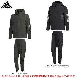 adidas(アディダス)ウインドハイブリッドジャケット パンツ 上下セット(FYK25/FYK26)(スポーツ/トレーニング/ランニング/カジュアル/中綿/保温/ジャケット/パンツ/ウェア/男性用/メンズ)