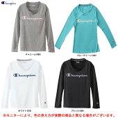 Champion(チャンピオン)CVAPORロングスリーブTシャツ(CWNS410)(スポーツ/トレーニング/ランニング/フィットネス/カジュアル/ロンT/女性用/レディース)