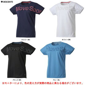 DESCENTE(デサント)半袖Tシャツ(DMWPJA64)(Move Sport/スポーツ/トレーニング/フィットネス/ウェア/半袖/吸汗速乾/女性用/レディース)