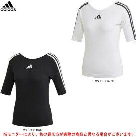 adidas(アディダス)W バックコンシャス 3S Tシャツ(GLO78)(スポーツ/トレーニング/ランニング/フィットネス/カジュアル/ジムウェア/半袖/女性用/レディース)