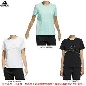 adidas(アディダス)W MH BIG 3bar logo TEE(54726)(スポーツ/トレーニング/練習/フィットネス/Tシャツ/半袖/ウェア/ランニング/ウォーキング/カジュアル/女性用/レディース)