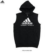 adidas(アディダス)コンバットパーカー(ADICJCSWS)(スポーツ/トレーニング/フィットネス/カジュアル/裏起毛/ジャケット/ノースリーブ/フードあり/ウェア/男性用/メンズ)