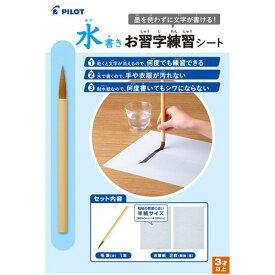 【定型外可 300円】パイロット 水書きお習字練習シート水筆紙 MSN-100P暗線入り、水でお習字の練習ができます何度でも練習できる 手や衣服が汚れない