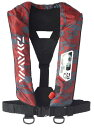 【ダイワ】ウォッシャブルライフジャケット(肩掛けタイプ手動・自動膨脹式)DF-2007カラー:レッドカモサイズ:フリ…