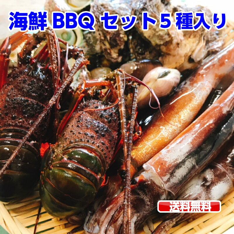 ランキング1位獲得商品 海鮮セット 福袋 海鮮豪華5点盛りセット お吸い物 鉄板 ホイル焼き 送料無料 ( 伊勢海老 2尾 / サザエ 5個 / はまぐり 5個 / 殻付き牡蛎 5個 / スルメイカ 4杯)