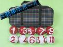 GH3010 ゲートボール 3面表示ボール1組チェック柄ケース付き ゲートボール用品