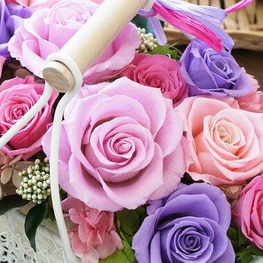 ピンクと紫のバラ