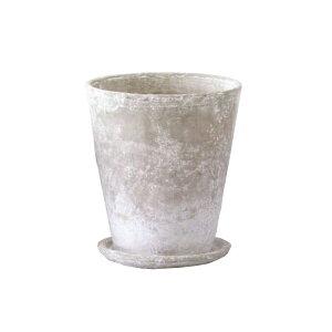 植木鉢 / ロゼッタラウンド白M CX2000MWh【取り寄せ商品】 ミュールミル セメント 穴有 皿付