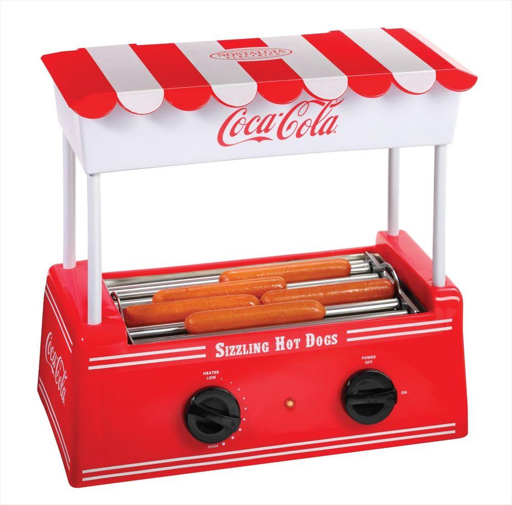 ノスタルジア コカコーラシリーズ ホットドッグ ローラー Nostalgia Electrics Coca-Cola Series HDR565COKE Old Fashioned Hot Dog Roller ソーセージ グリル 送料無料