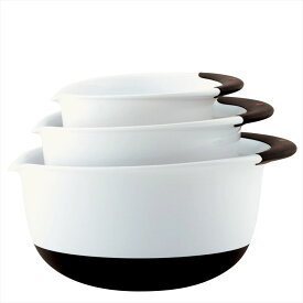 OXO オクソー ミキシングボール3ピースセット Good Grips Mixing Bowl Set with Handles, 3-Piece 送料無料 【並行輸入品】