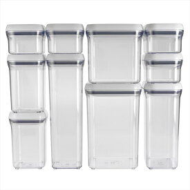 OXO オクソー ポップコンテナ 10ピースセット Good Grips 10-Piece POP Container Set 送料無料 【並行輸入品】