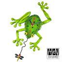 アレン デザイン 振り子時計 Allen Designs Frog Fly Pendulum Wall Clock カエルとハエ 【 置き時計 掛け時計 】 C106 送料無料 ミシ…