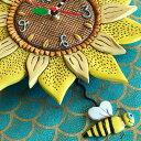 ヒマワリ ひまわり Allen Designs アレン デザイン 振り子時計 BEE SUNNY PENDULUM CLOCK 掛け時計 P1712 送料無料