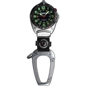 ダコタ Dakota 時計 カラビナ ウォッチ ミニ クリップ Easy-To-Read Flashlight フラッシュライト クリップ時計 Clip Watch Black 送料無料 【並行輸入品】