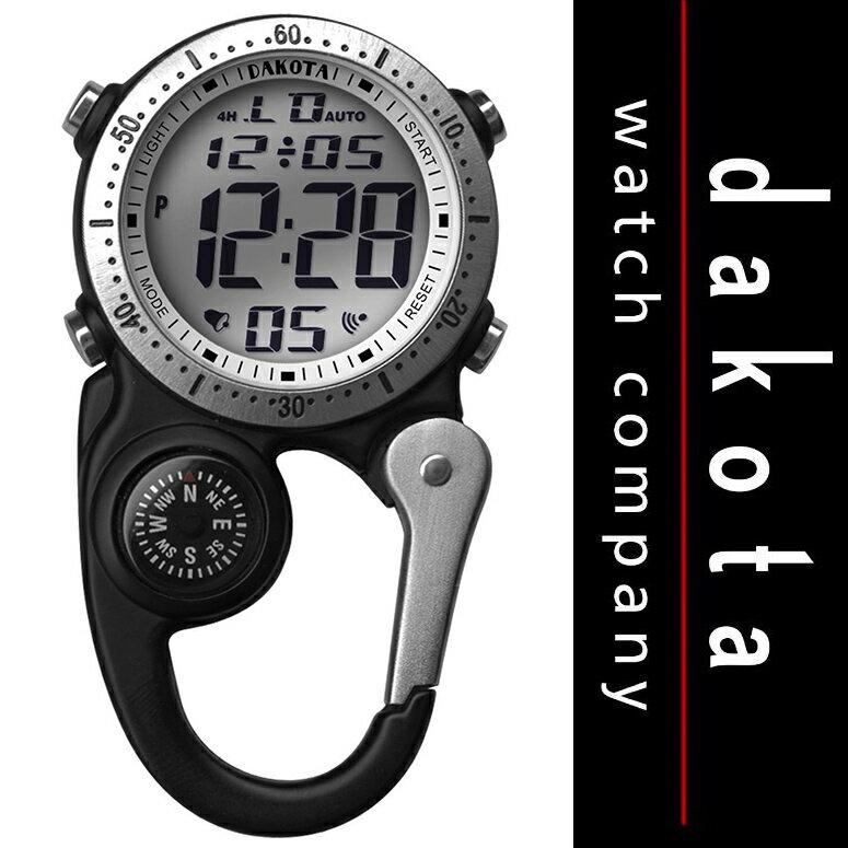ダコタ Dakota 時計 カラビナ ウォッチ Digi Clip Watch デジタル クリップ 時計 マイクロライト Black 【 アウトドア 懐中時計 日焼け 黒 ブラック 】 Dakota Watch Company 送料無料