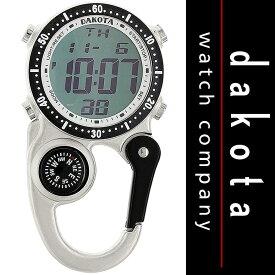 ダコタ Dakota 時計 カラビナ ウォッチ ミニ クリップ Digi Clip Watch クリップ マイクロライト デジタル表示 Silver 送料無料 【並行輸入品】