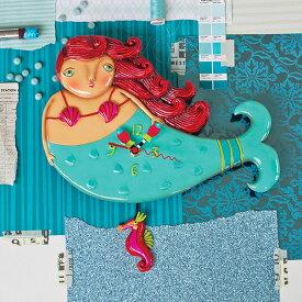 ルビー マーメイド アレン デザイン 振り子時計 Allen Designs Ruby Mermaid Clock 【 人魚 ビーチ 魚 航海 タツノオトシゴ 置き時計 掛け時計 】 P1168 ミシェルアレン ミシェル・アレン アレン・デザイン ALLEN DESIGNS 時計 送料無料 【並行輸入品】