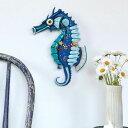 タツノオトシゴとヒトデの振り子時計 アレン デザイン 振り子時計 Allen Designs Salty Seahorse Clock タツノオトシゴ 魚 ヒトデ 掛け…
