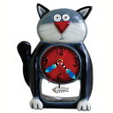 ブラック キティ Allen Designs アレン デザイン 振り子時計 Black Kitty Clock 黒猫 魚の骨 掛け時計 P1050 送料無料