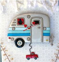 ハッピーキャンパー 振り子時計 アレン デザイン 振り子時計 Allen Designs HAPPY CAMPERS PENDULUM 車 ハウス トレーラー トラック 掛…