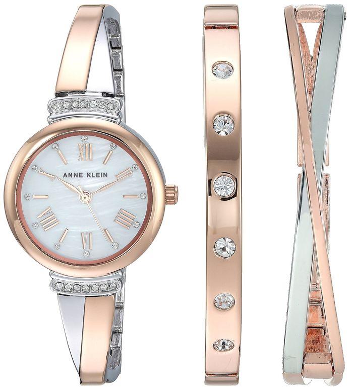 アンクライン Anne Klein 女性用 腕時計 レディース ウォッチ パール AK/2245RTST 女性らしいデザイン かわいい 送料無料