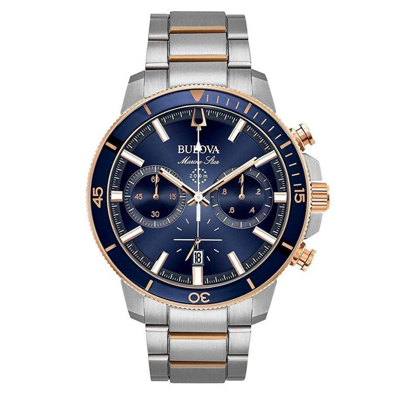 ブローバ Bulova 男性用 腕時計 メンズ ウォッチ クロノグラフ ブルー 98B301 送料無料 【並行輸入品】